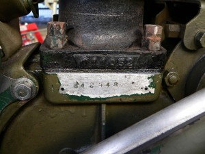 BW Engine number