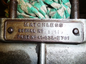 Brass plate engine number