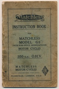 G3-WO Instruction Book (Driving and Adjustment Instructions) for C 2073