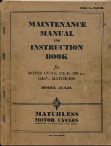 G3L Maintenance Manual  These manuals were comprehensive and very well illustrated.