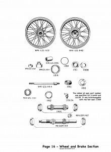 P16 Wheel and brake section
